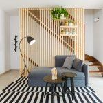 Рейки в интерьере: фото + варианты использования | Деревянные рейки в интерьере на стене гостиной, прихожей: как их сделать, отделка и декор