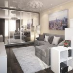 Варианты дизайна однокомнатной квартиры, фото