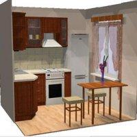 Уютная кухня 6 кв. м
